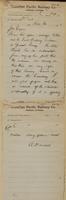 A. Manuel, St. Paul to J.M. Egan re message taken to Fort Snelling- Indians quiet.
