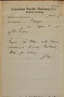 J.N., Nepigon [Nipigon] to J.M. Egan re expect Colonel Otter at Red Rock.