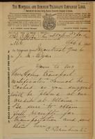 C. Drinkwater, Montreal to J.M. Egan re transport certificates cannot be cashed, placed at our credit.