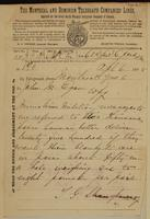 T.G. Shaughnessy, Montreal to J.M. Egan re Minister of Militia message - 2,000 blankets.