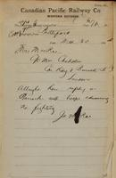 J. MacRae, Battleford to Mrs. MacRae, London re safe in barracks, no fighting.
