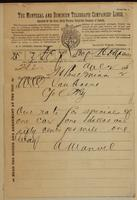 A. Manuel, St. Paul, Minnesota to W.C. Van Horne re rate for specials.