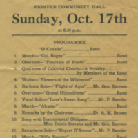 Band Concert Sunday, Oct. 17th