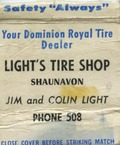 Light's Tire Shop [matchbook]