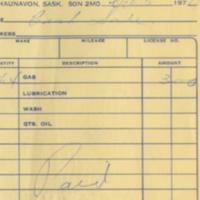 Keith's Husky Service [business receipt]