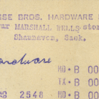 Busse Bros. Hardware Ltd. [business receipt]