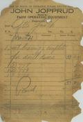 John Jopprud dealer in Farm Operating Equipment [business receipt]