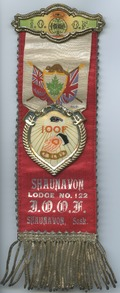 Shaunavon Lodge No. 122 I.O.O.F [ribbon badge]