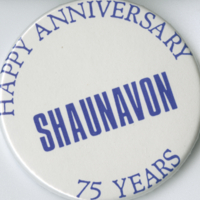 Happy Anniversary Shaunavon 75 Years button