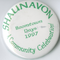 Shaunavon Boomtown Days 1997 A Community Celebration button
