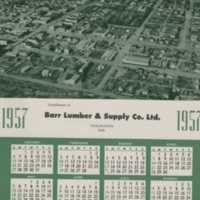 1957 Calendar from Barr Lumber & Supply Co. Ltd.