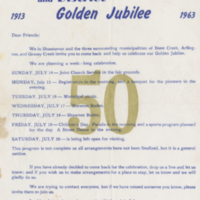 Shaunavon and District Golden Jubilee letter