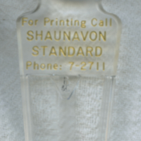 For Printing Call Shaunavon Standard Phone: 7-2711 [hand lens]