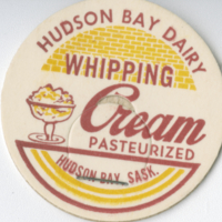 Hudson Bay Dairy milk bottle top