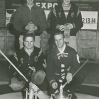 Early 1960's Men Spiel Winners - Max Morton, Larry McDonald, Rusty Bracken, Gary Thode