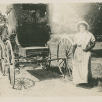 [Two women and a buggy]