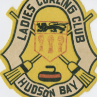 Ladies Curling Club Hudson Bay badge