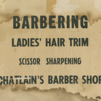 Chatlain's Barber Shop sign