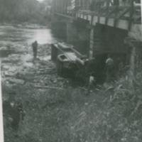 Hawke Truck over Red Deer Bridge late 1940s