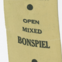 Hudson Bay Open Mixed Bonspiel 1964 ribbon