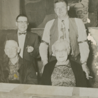 Don Marcotte, Allan Anderson, Billy Quinn and Mrs. Ida McGillis