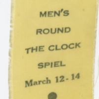 Hudson Bay Men's Round the Clock Spiel March 12-14 1965 ribbon