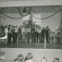 A Christmas program at the high school