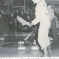 1949 - Allan Anderson makes final shot to win Pas Bonspiel 1949
