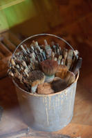 [Imhoff's bucket of paintbrushes]