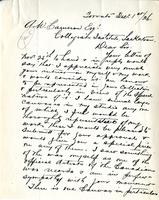 Letter from J.W. Beatty to A.W. Cameron, December 1, 1926