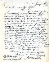 Letter from J.W. Beatty to A.W. Cameron, January 11, 1927