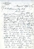 Letter from J.W. Beatty to A.W. Cameron, April 4, 1927