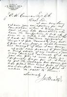 Letter from J.W. Beatty to A.W. Cameron