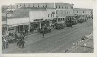 Army Vehicles on Main Street, Rosetown