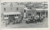 Army Motorcycles and Vehicles on Main Street, Rosetown