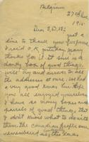 "Letter from soldier to ""S.D.B,"" December 27, 1915"