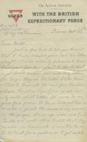 Letter from Dick to Gertrude Buchanan