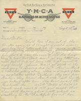 Letter from Dick to Gertrude Buchanan, September 12, 1916