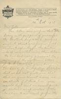Letter from Rosetown soldiers to the S.D.B, October 12, 1915