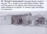 W. Wright's Homestead in Kepmton District