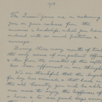 [Letter written by King George V on the release of duty following the armistice]