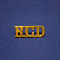 R.C.D. [Royal Canadian Dragoons lapel pin]