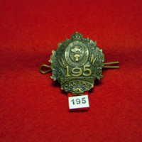 [195th (City of Regina) Battalion cap badge]