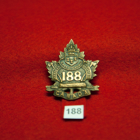 Saskatchewan Oversees Battalion [188th Battalion cap badge]