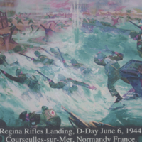 Regina Rifles Landing, D-Day June 6, 1944. Royal Regina Rifles Association 60th Reunion.