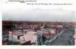 Bird's eye view of Winnipeg, Man., looking along Main Street