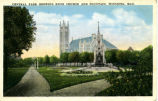 Central Park Showing Knox Church and Fountain, Winnipeg, Man.
