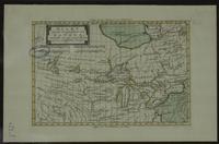 Kaart van het westelijk gedeelte van Kanada, bevattende de vijf groote Meiren, met de omleggende Landen
