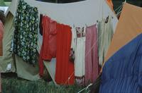 Colony Trek -clothesline strung between tents