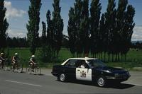 Cyclists and police